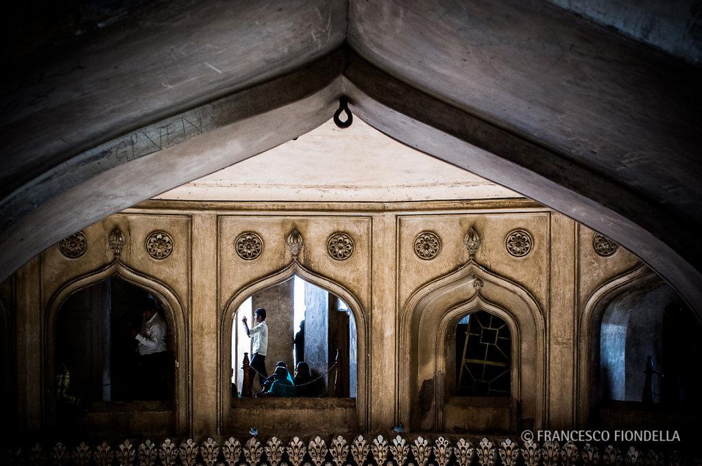 Inside the Charminar.