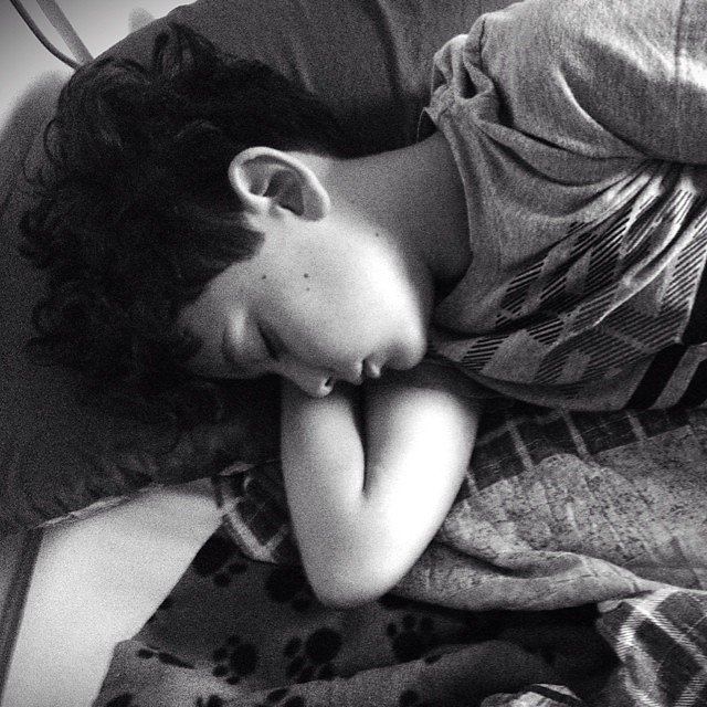 2nd grade takes a toll. My sweet  boy, stop growing up so fast.