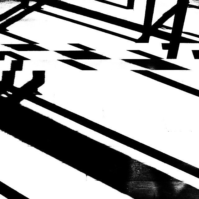 Shadows on stairs at work